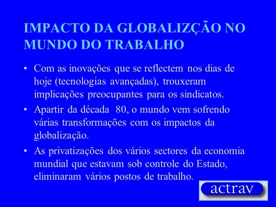 IMPACTO DA GLOBALIZÇÃO NO MUNDO DO TRABALHO
