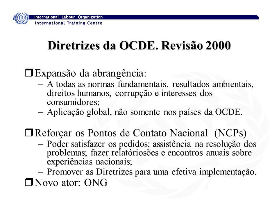 Diretrizes da OCDE. Revisão 2000
