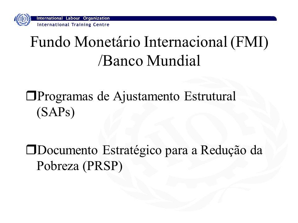 Fundo Monetário Internacional (FMI) /Banco Mundial