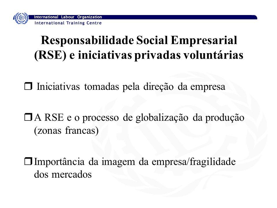 Responsabilidade Social Empresarial (RSE) e iniciativas privadas voluntárias