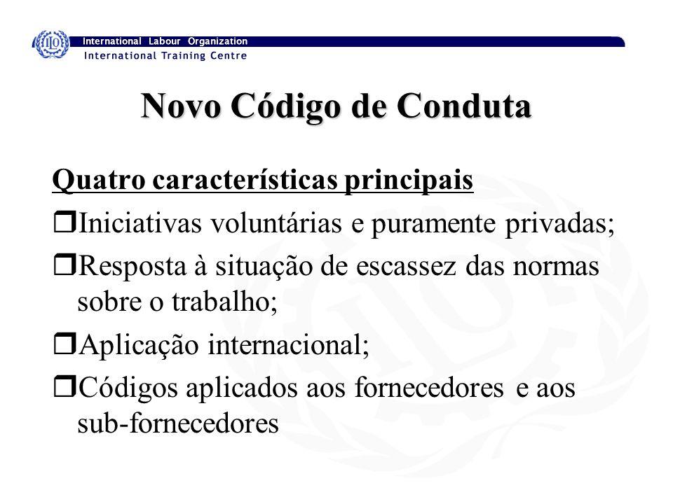 Novo Código de Conduta Quatro características principais