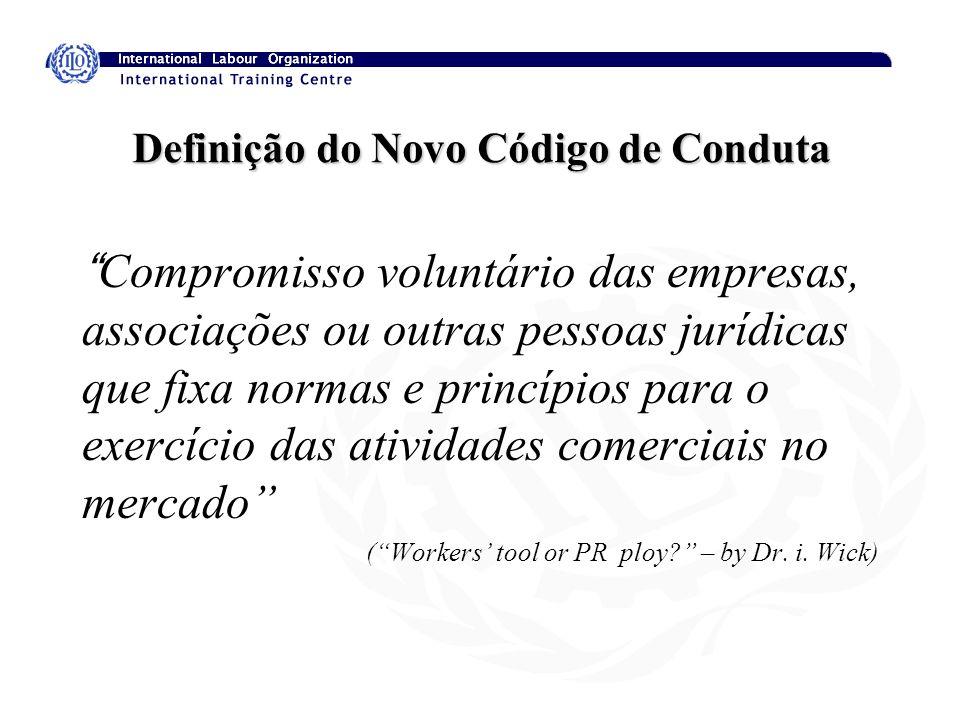 Definição do Novo Código de Conduta