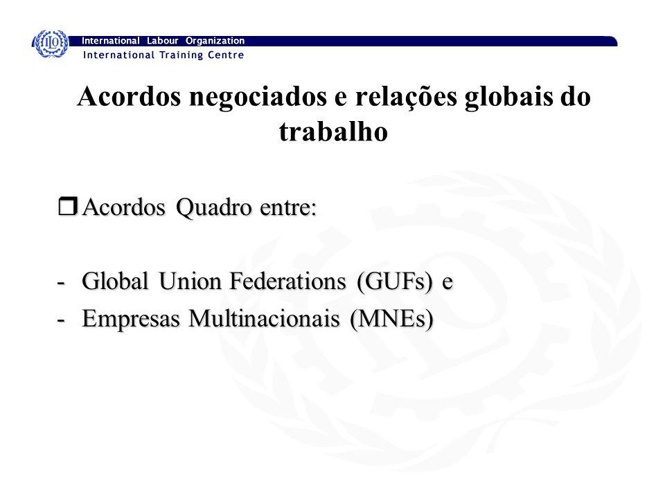 Acordos negociados e relações globais do trabalho