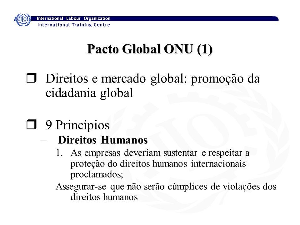 Direitos e mercado global: promoção da cidadania global