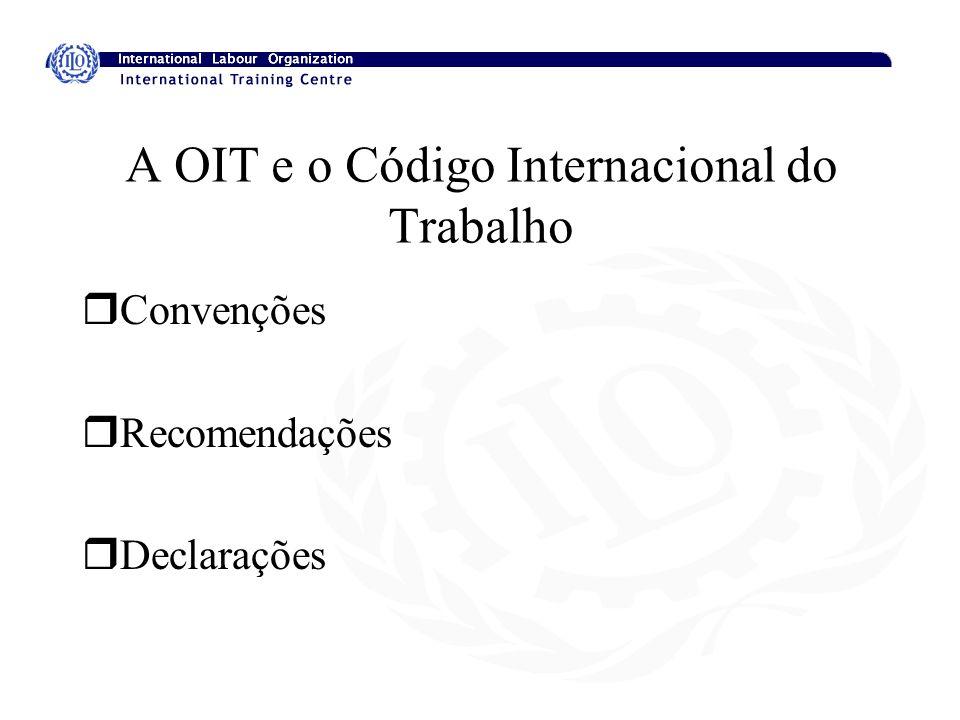 A OIT e o Código Internacional do Trabalho