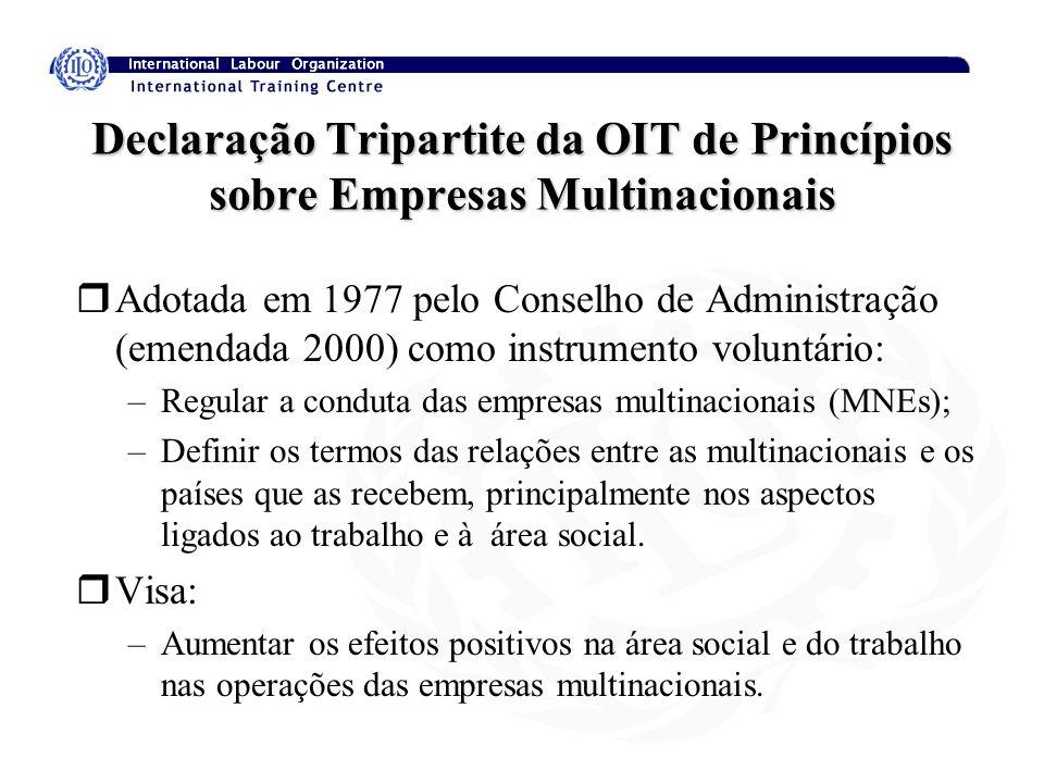 Declaração Tripartite da OIT de Princípios sobre Empresas Multinacionais