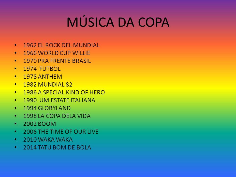 MÚSICA DA COPA 1962 EL ROCK DEL MUNDIAL 1966 WORLD CUP WILLIE