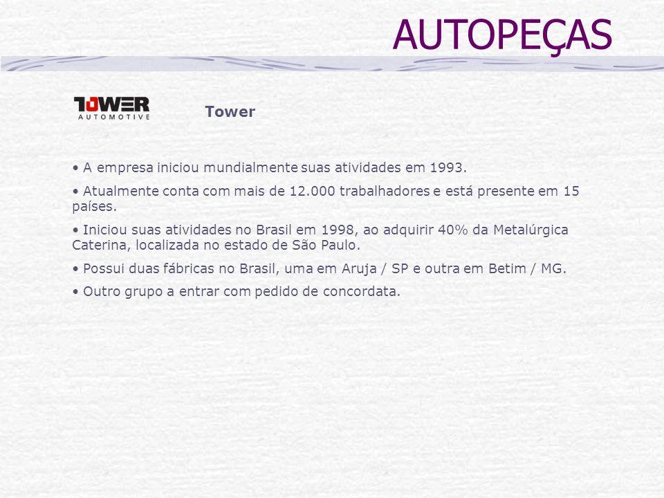 AUTOPEÇAS Tower. A empresa iniciou mundialmente suas atividades em 1993.