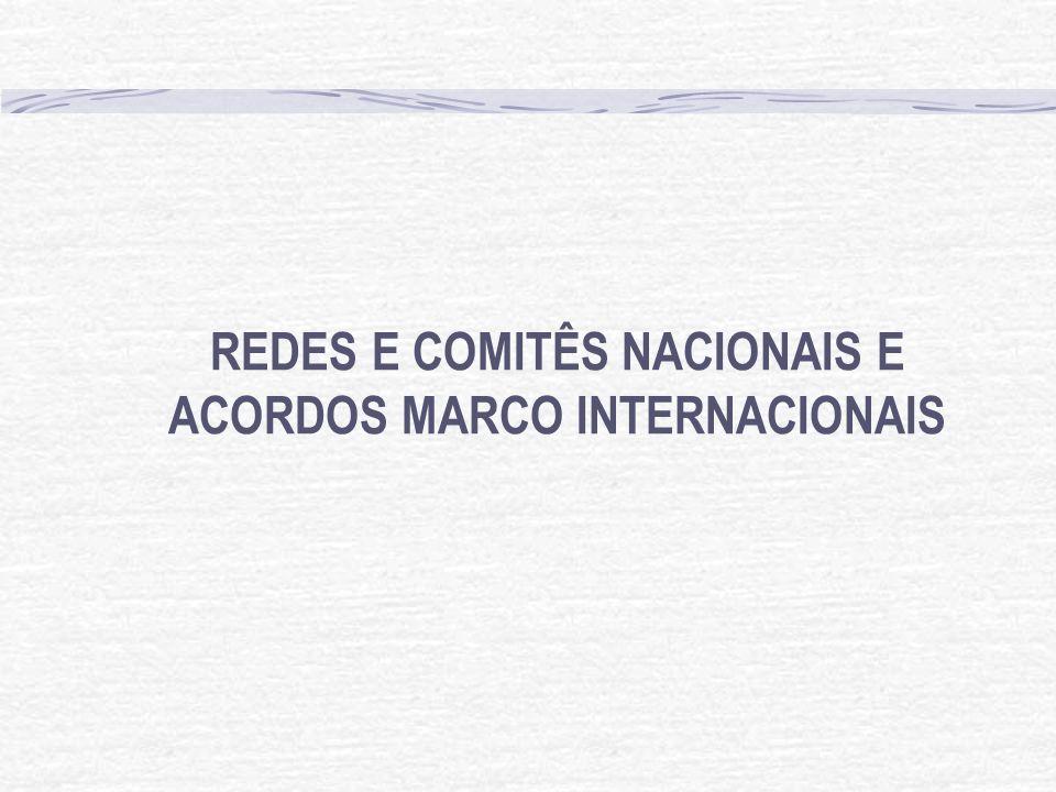 REDES E COMITÊS NACIONAIS E ACORDOS MARCO INTERNACIONAIS