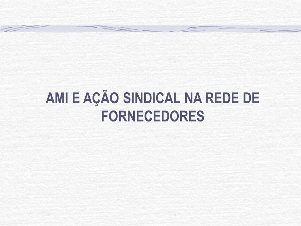 AMI E AÇÃO SINDICAL NA REDE DE FORNECEDORES