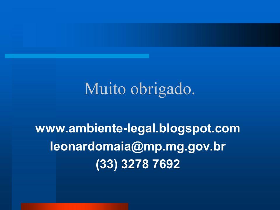 Muito obrigado. www.ambiente-legal.blogspot.com