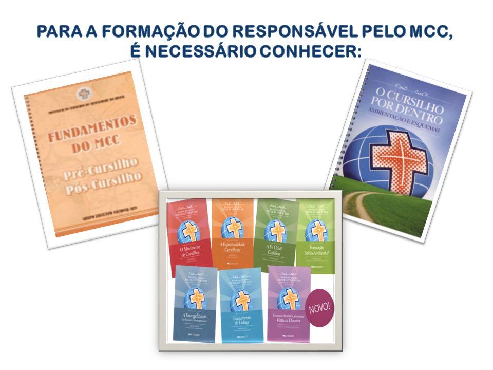 PARA A FORMAÇÃO DO RESPONSÁVEL PELO MCC, É NECESSÁRIO CONHECER: