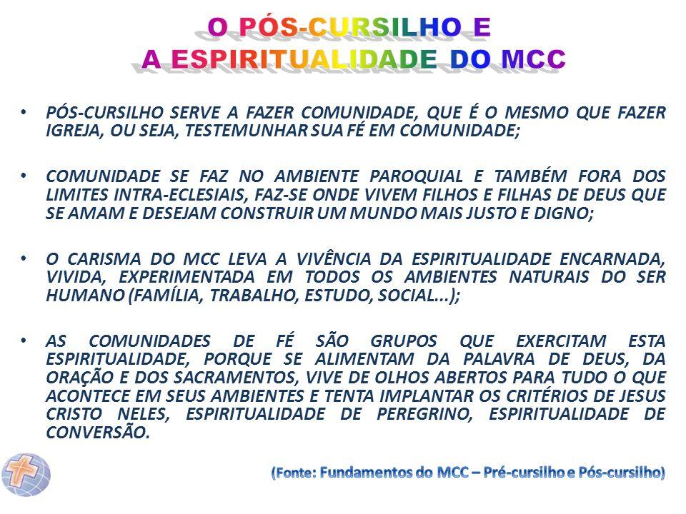 A ESPIRITUALIDADE DO MCC