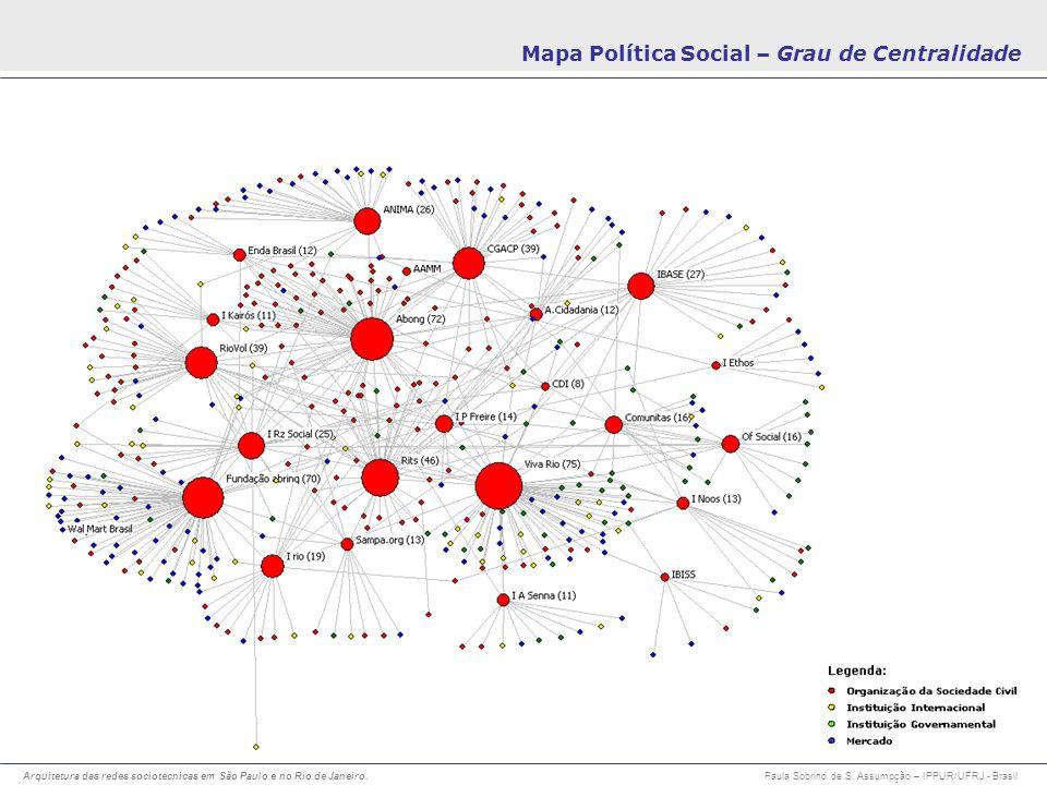 Mapa Política Social – Grau de Centralidade