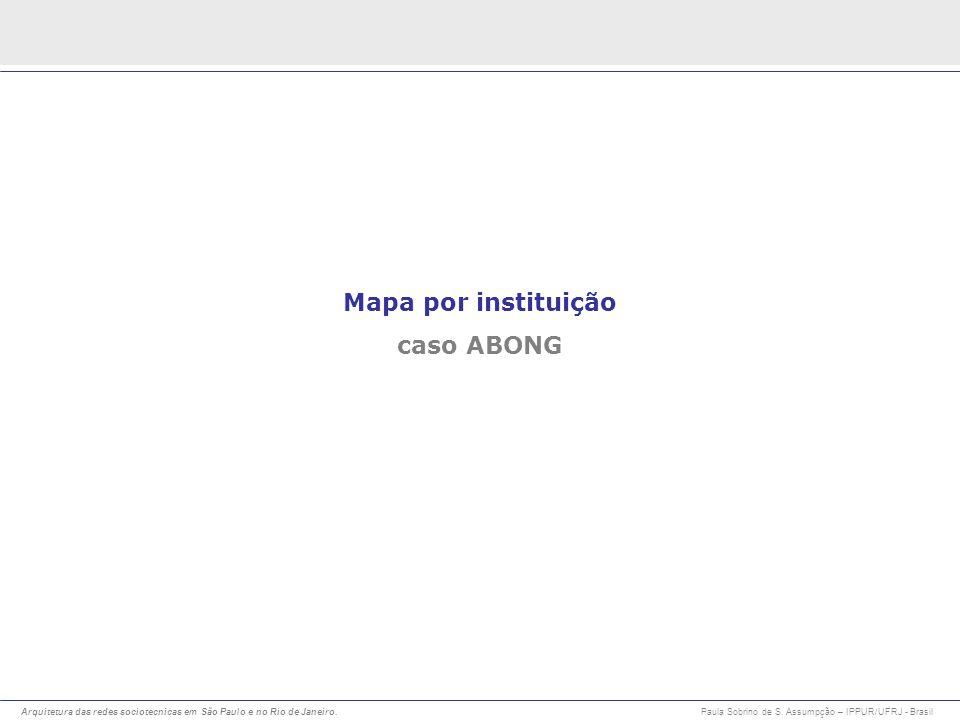 Mapa por instituição caso ABONG
