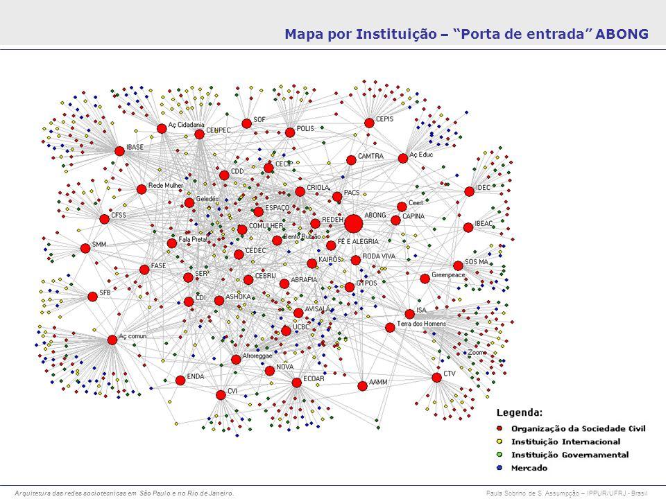 Mapa por Instituição – Porta de entrada ABONG