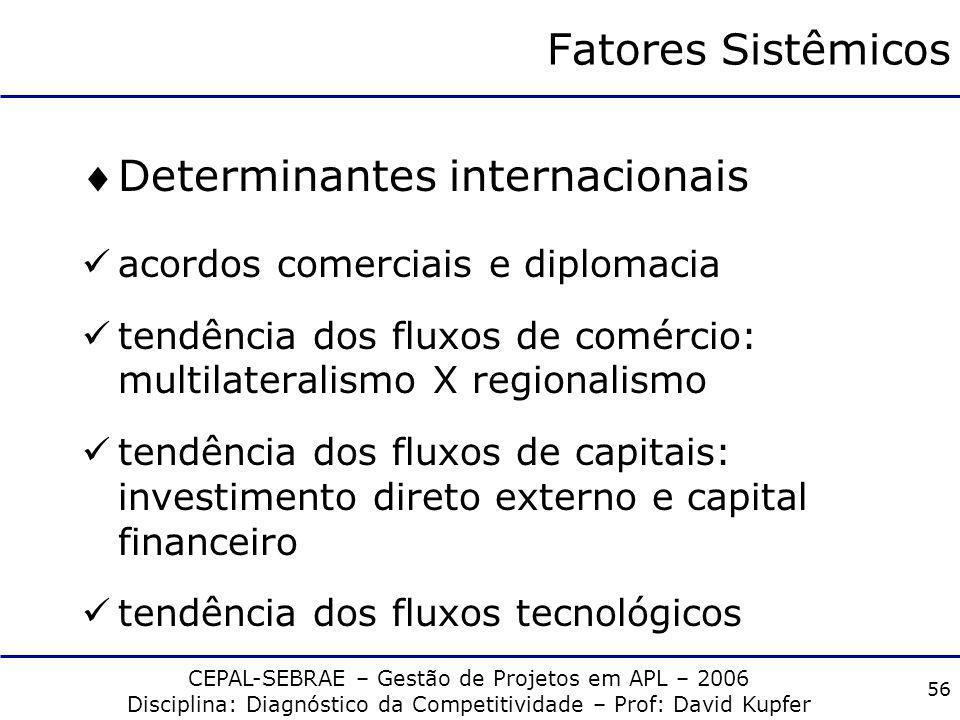 Determinantes internacionais