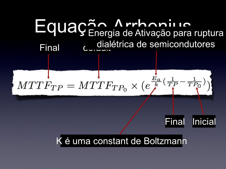 Equação ArrheniusEnergia de Ativação para ruptura dialétrica de semicondutores. Final. default. K é uma constant de Boltzmann.