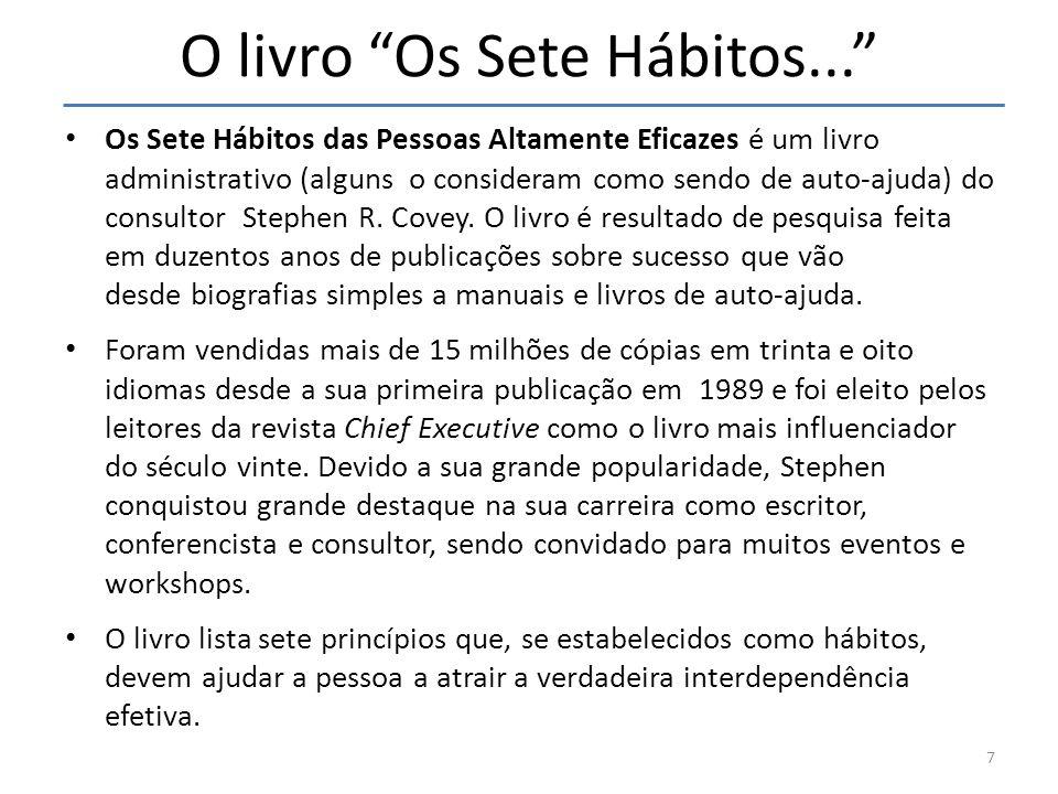 O livro Os Sete Hábitos...