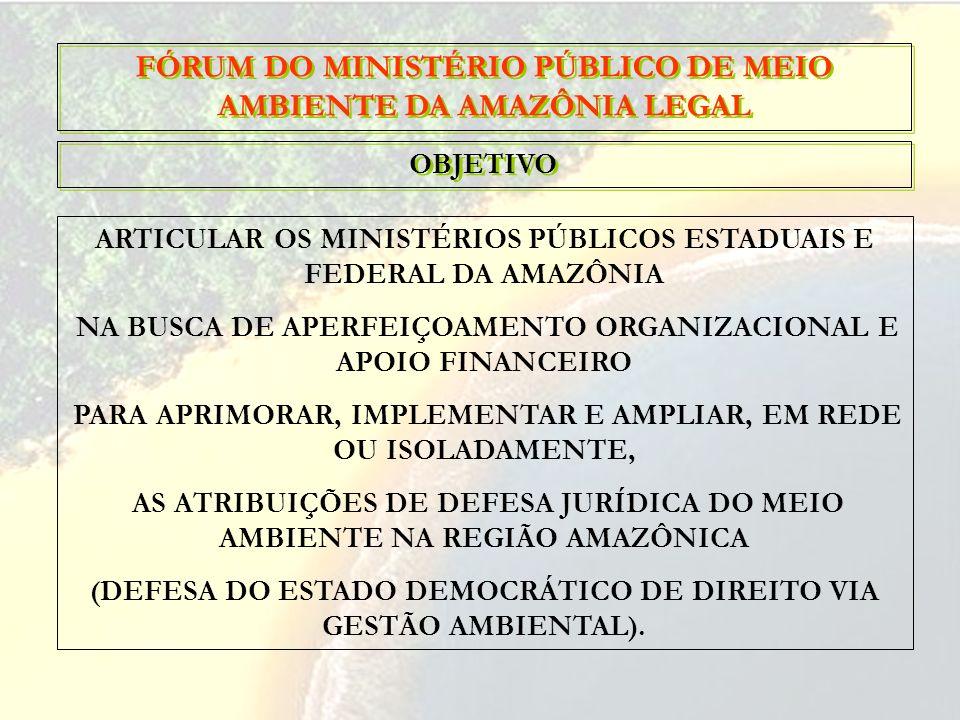 FÓRUM DO MINISTÉRIO PÚBLICO DE MEIO AMBIENTE DA AMAZÔNIA LEGAL