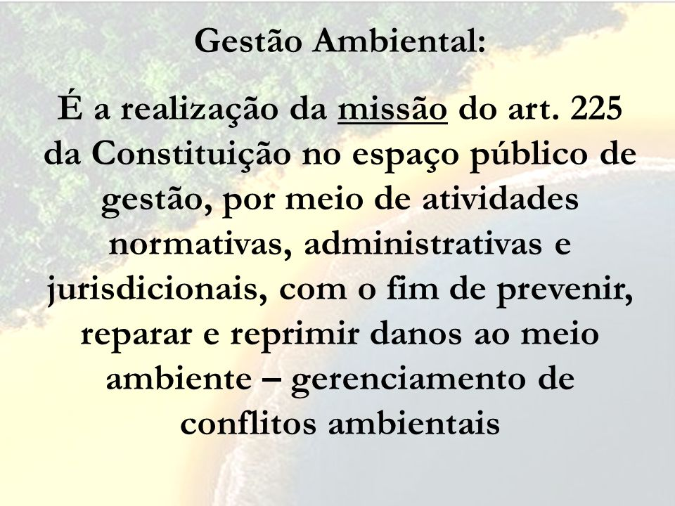 Gestão Ambiental: