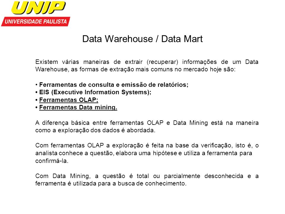 Data Warehouse / Data Mart