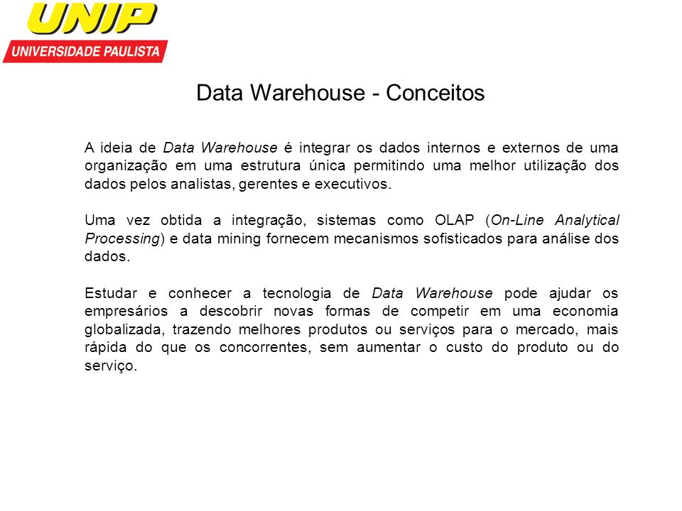 Data Warehouse - Conceitos
