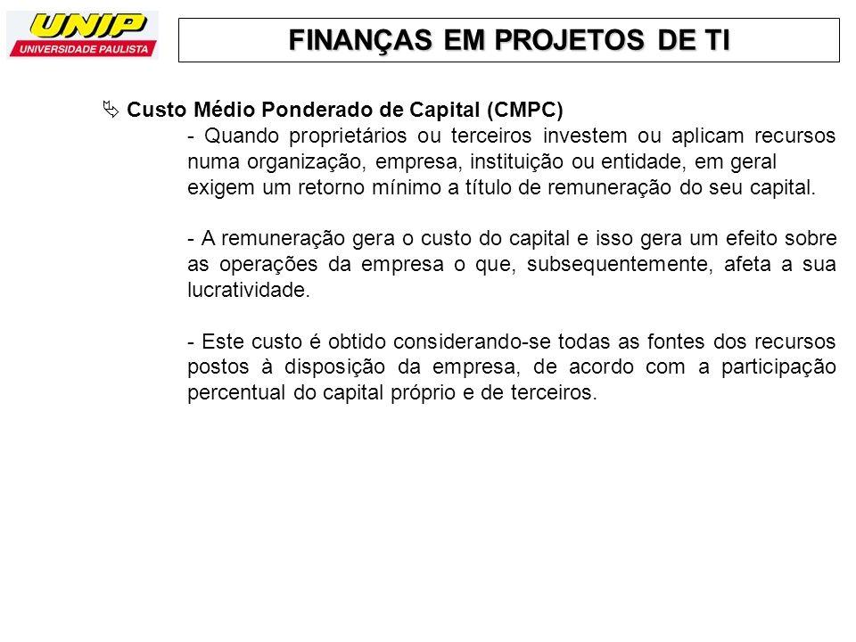  Custo Médio Ponderado de Capital (CMPC)