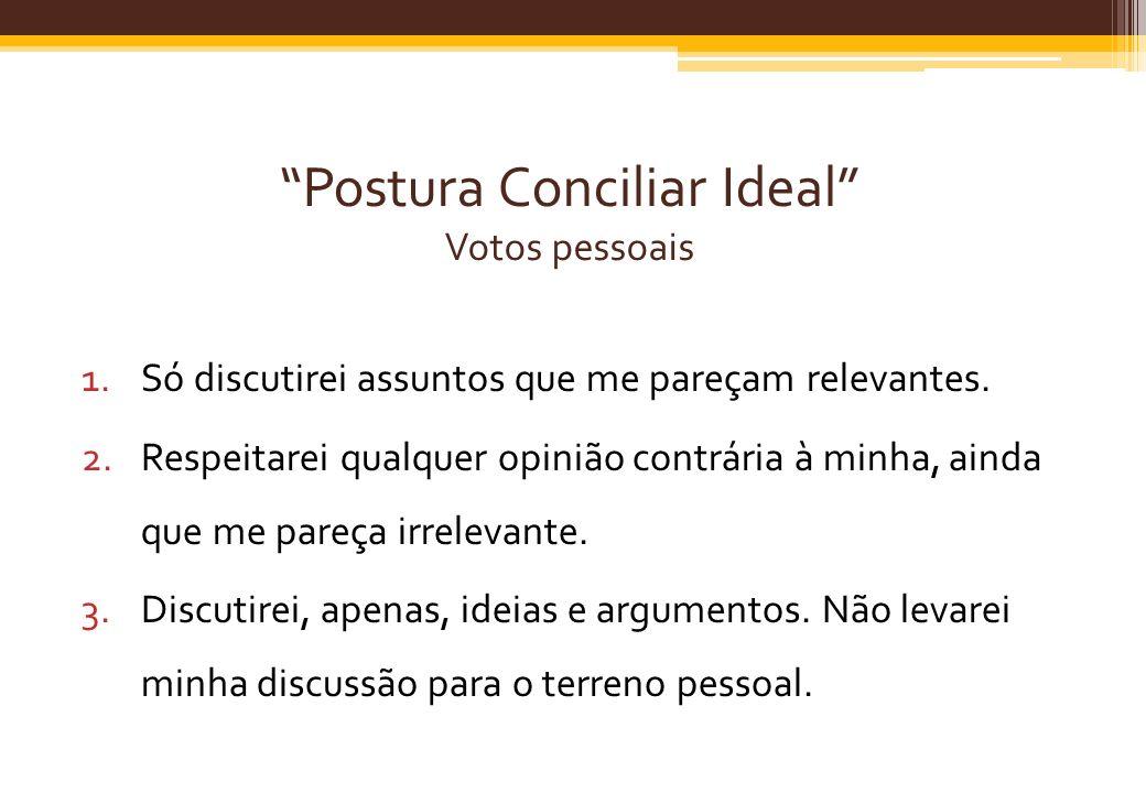 Postura Conciliar Ideal Votos pessoais