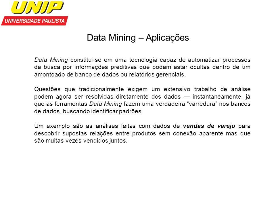 Data Mining – Aplicações