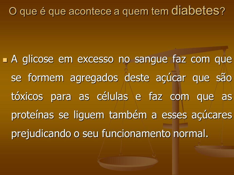 O que é que acontece a quem tem diabetes