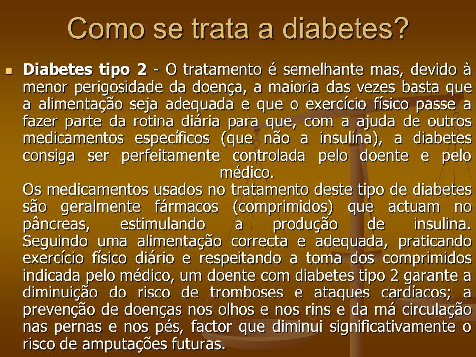 Como se trata a diabetes