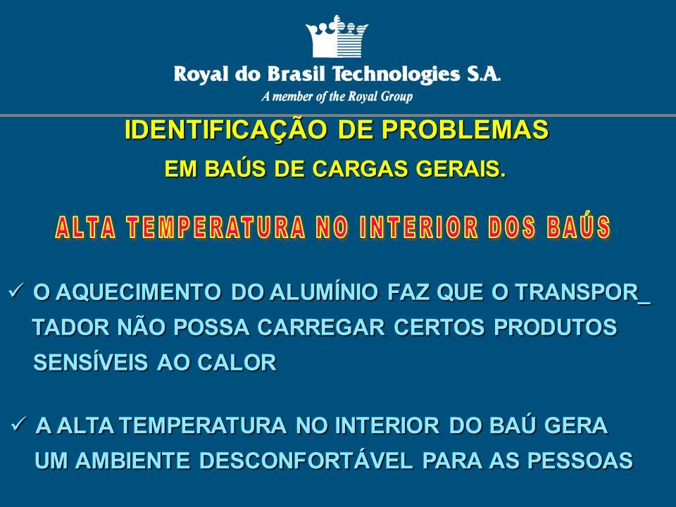 IDENTIFICAÇÃO DE PROBLEMAS EM BAÚS DE CARGAS GERAIS.