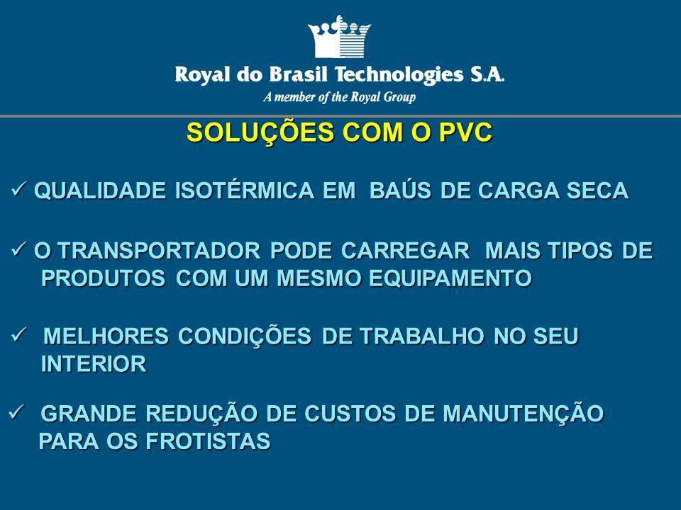 SOLUÇÕES COM O PVC QUALIDADE ISOTÉRMICA EM BAÚS DE CARGA SECA