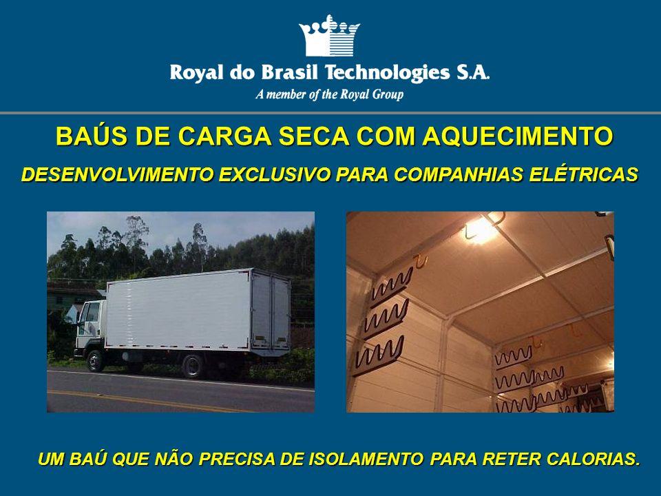 BAÚS DE CARGA SECA COM AQUECIMENTO