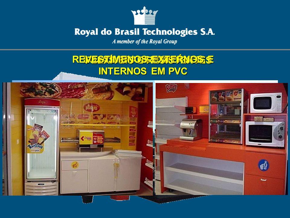 REVESTIMENOS EXTERNOS E INTERNOS EM PVC FLEXÍVEIS E RESISTENTES