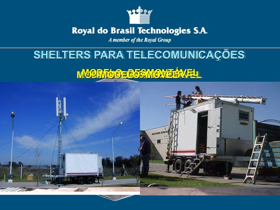 SHELTERS PARA TELECOMUNICAÇÕES