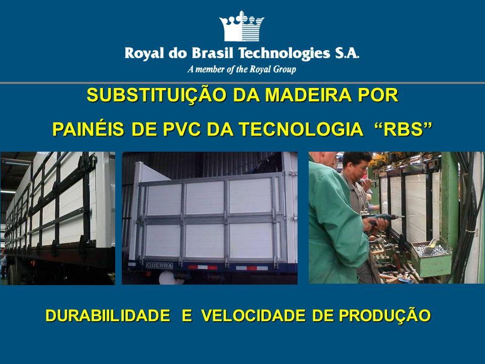 SUBSTITUIÇÃO DA MADEIRA POR PAINÉIS DE PVC DA TECNOLOGIA RBS