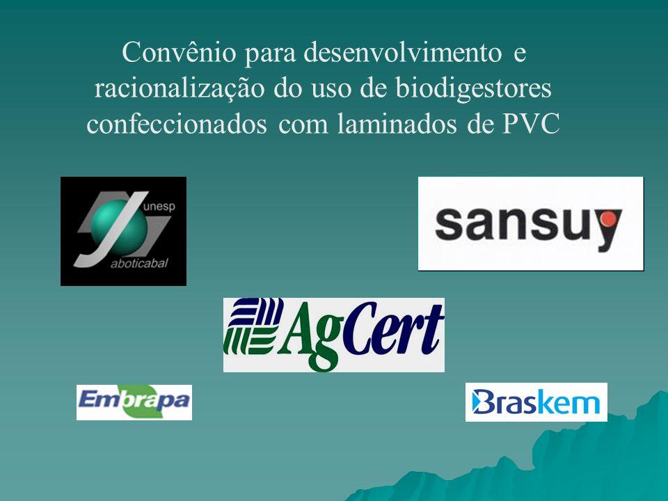 Convênio para desenvolvimento e racionalização do uso de biodigestores confeccionados com laminados de PVC