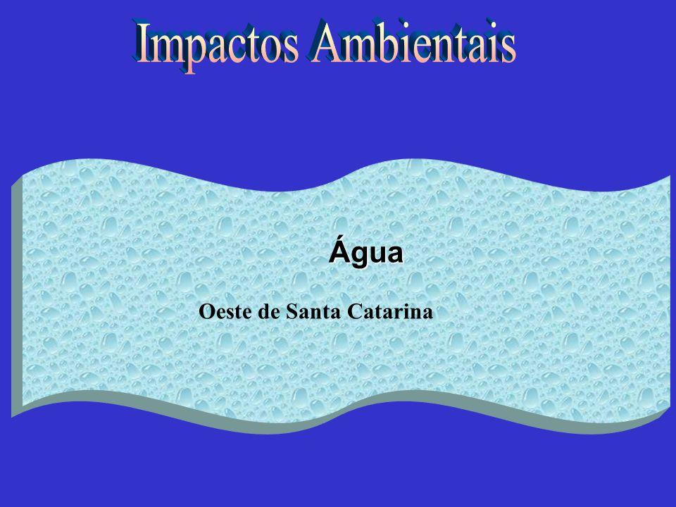 Impactos Ambientais Água Oeste de Santa Catarina