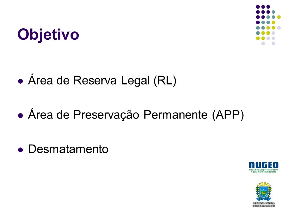 Objetivo Área de Reserva Legal (RL)
