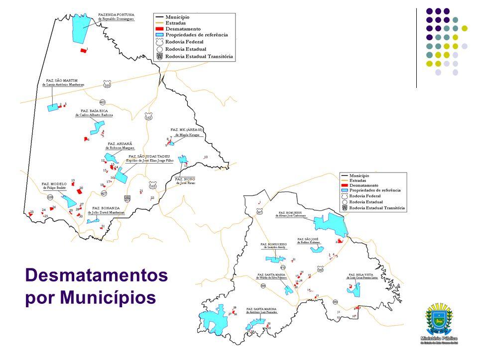 Desmatamentos por Municípios