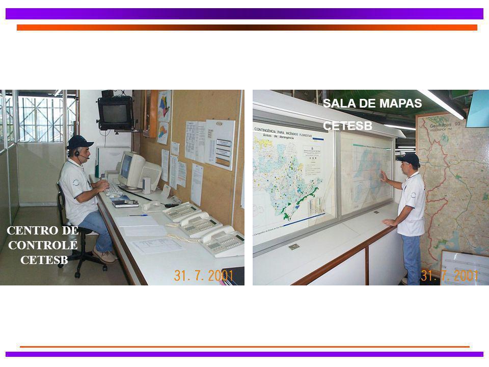 SALA DE MAPAS CETESB CENTRO DE CONTROLE CETESB