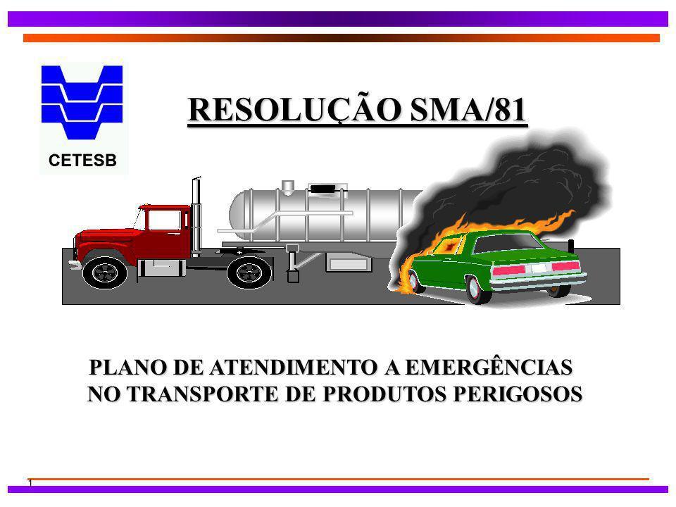 PLANO DE ATENDIMENTO A EMERGÊNCIAS NO TRANSPORTE DE PRODUTOS PERIGOSOS