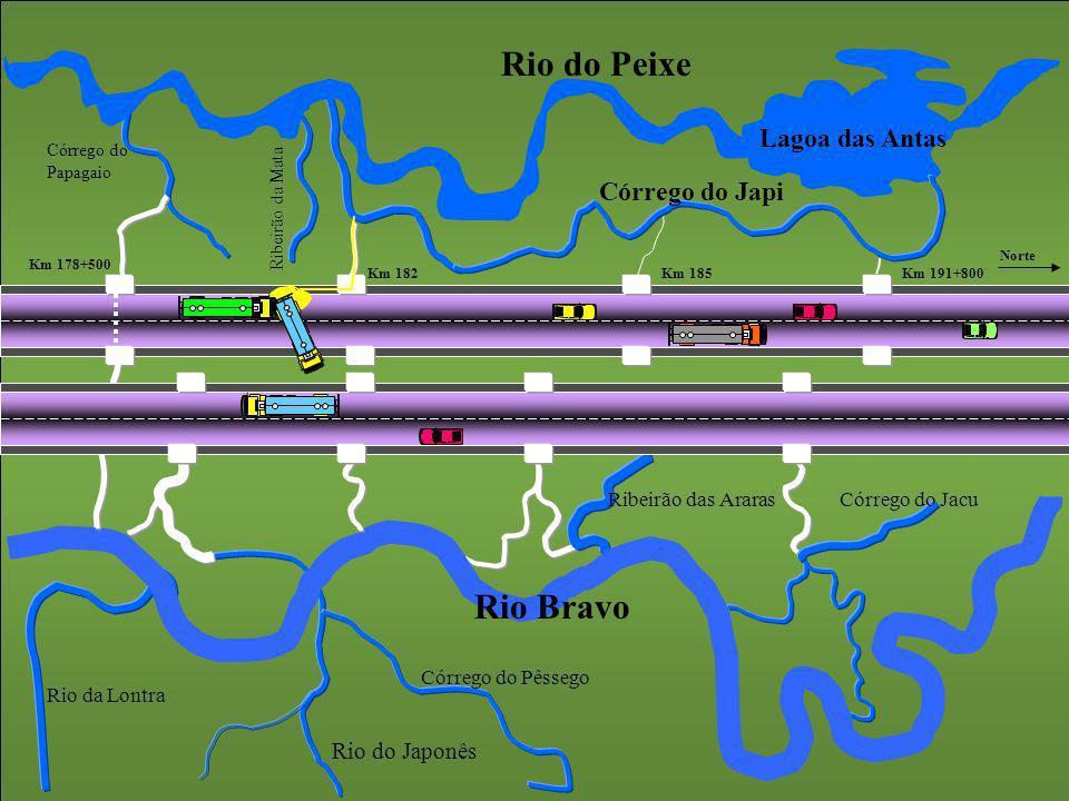 Rio do Peixe Rio Bravo Lagoa das Antas Córrego do Japi Rio do Japonês