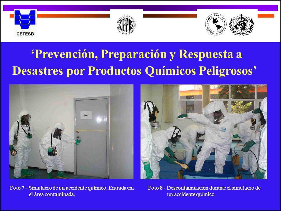 'Prevención, Preparación y Respuesta a Desastres por Productos Químicos Peligrosos'