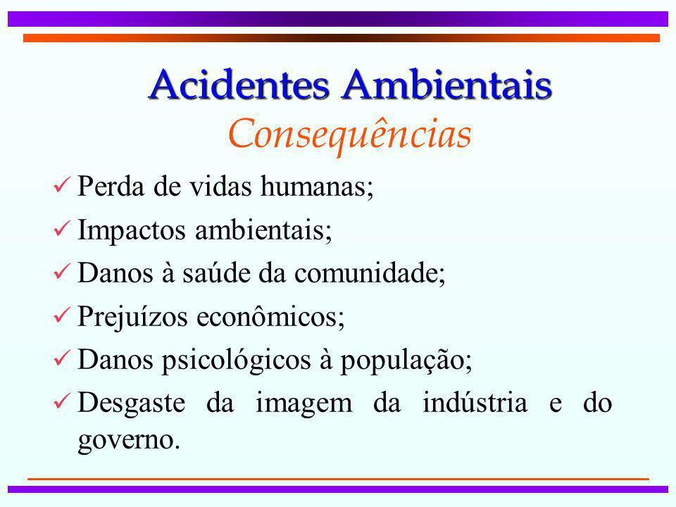 Acidentes Ambientais Consequências