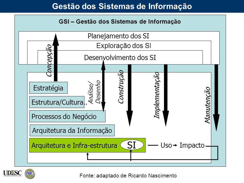Gestão dos Sistemas de Informação