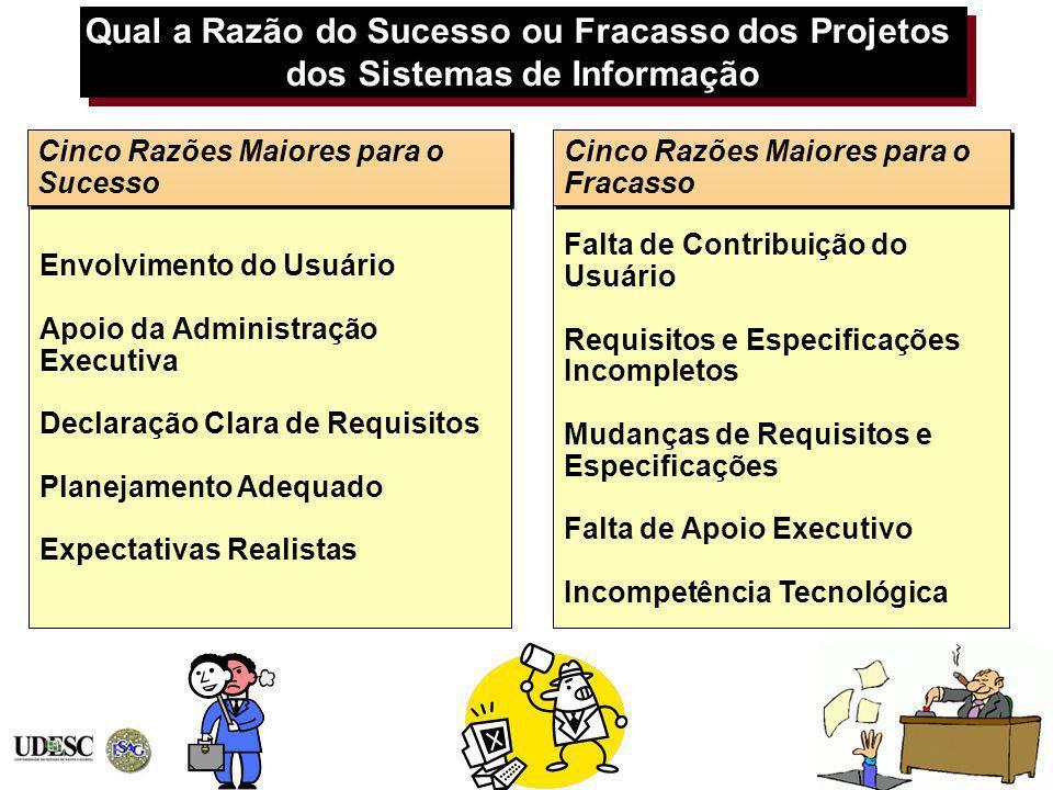Qual a Razão do Sucesso ou Fracasso dos Projetos dos Sistemas de Informação