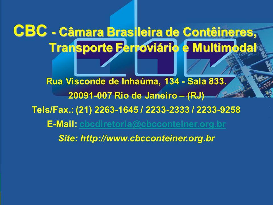 CBC - Câmara Brasileira de Contêineres, Transporte Ferroviário e Multimodal